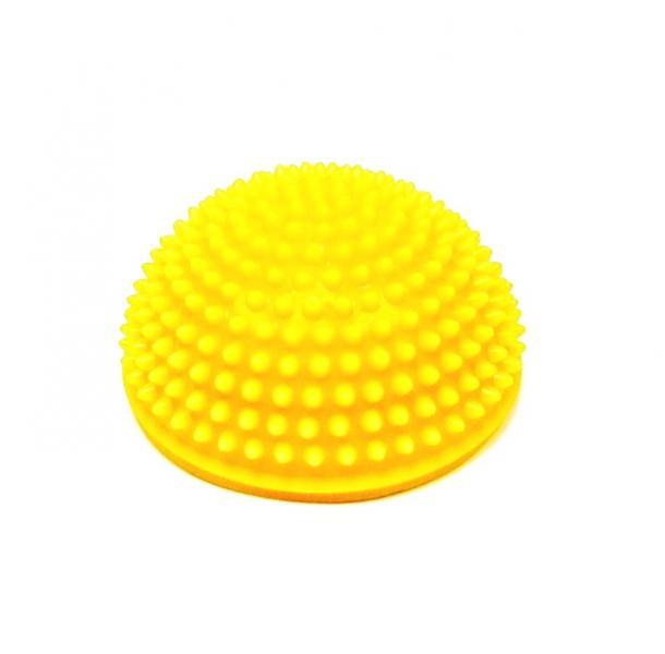 Тех-Пласт  И06018 Полусфера с шипами 150мм в. п желтый