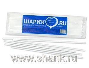 Весёлая затея  1302-0031 Палочка белая 100шт. уп, цена за шт.