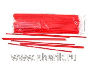 Весёлая затея  1302-0034 Палочка красная 100шт. уп, цена за шт.