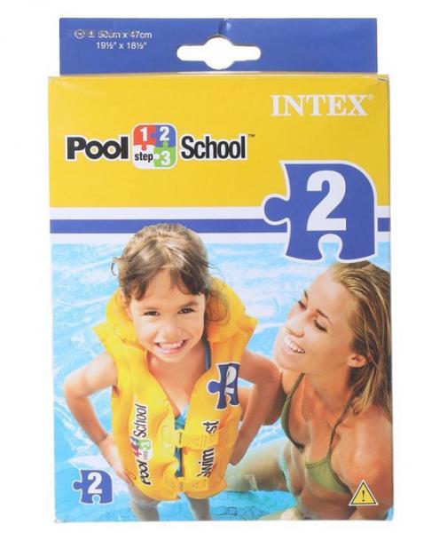 ИНТЕКС Жилет надув. Pool School Step-2 50х47см 3-6лет в. к 24шт. кор. 58660