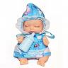 Kaibibi baby  Спящий малыш BLD195-3 Пупс в голубом платье и чепчике c бутылочкой, в шаре d11см, 12шт- бокс CE106065-3 12. 192
